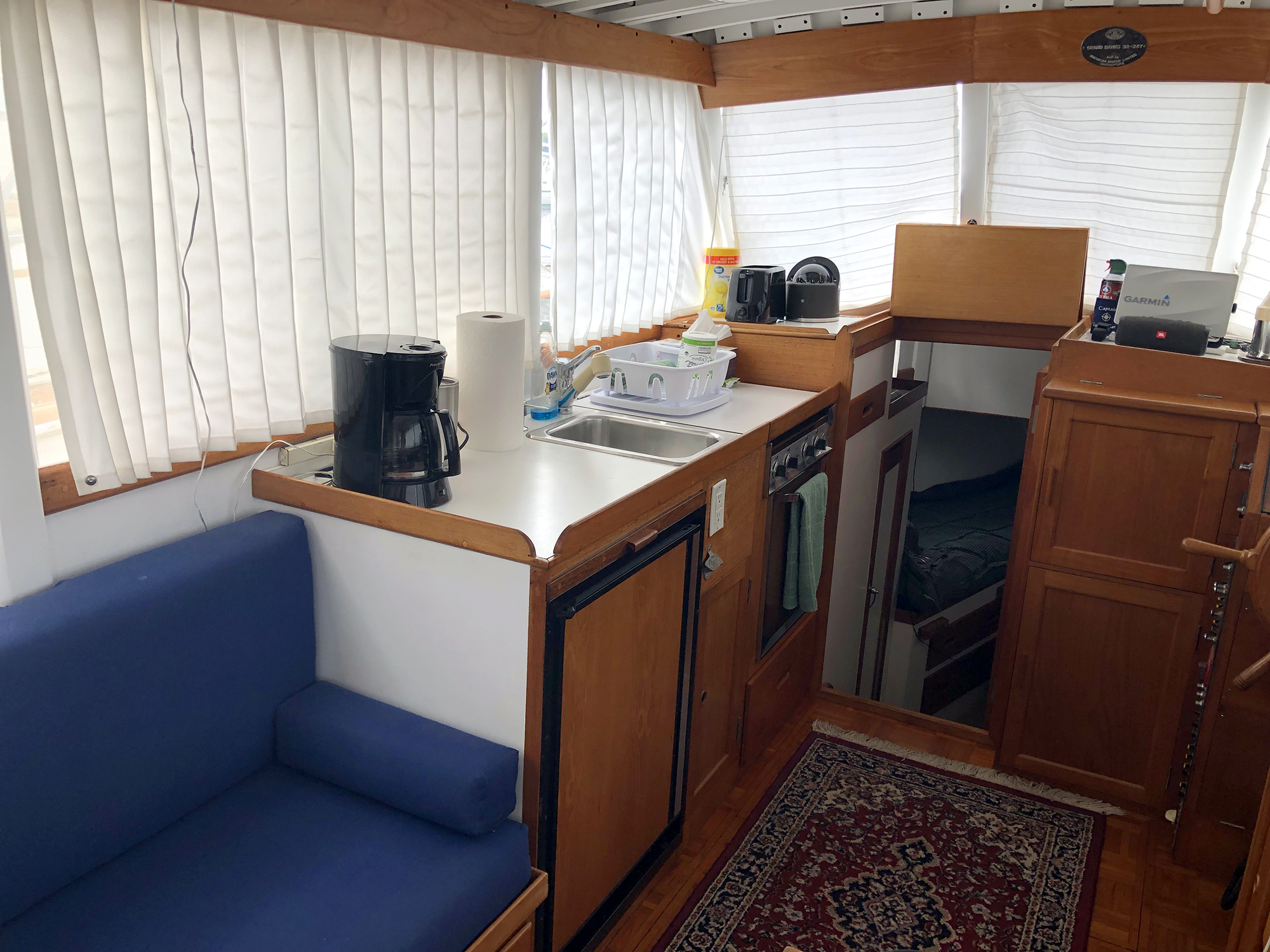 1972 Grand Banks 32 galley to port